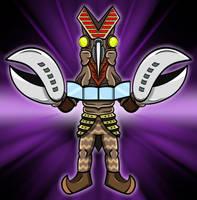Ultraman Seijin - Baltan 2 by earthbaragon