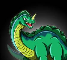 Loch Ness Kaiju - Kaiju Portraits Onoya Toy by earthbaragon