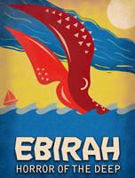Godzilla - Ebirah Horror of the Deep Minimalist by earthbaragon