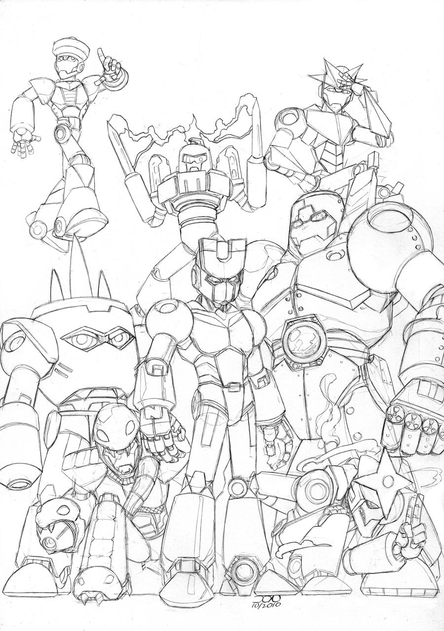 Megaman 3 Robot Masters by Variable-Edge