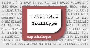 TrollType, a font for Homestuck Trolls by Sudrien