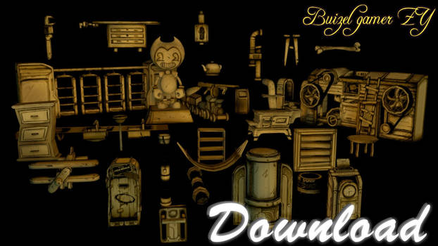 [C4D Batim]Download Prop CH3 Bendyandtheinkmachine by Buizelgamer-ZY