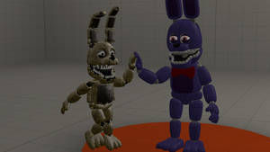 The plush bunny bros by SonicTFMLP123