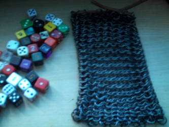 Chainmail dice bag 2 by Nihtgenga