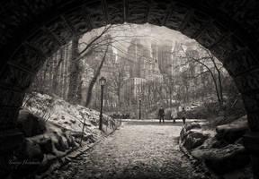 Tunnel view Manhattan by Tomoji-ized
