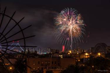 Astoria Park Fireworks Display 2013 by Tomoji-ized