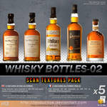 Free textures : 028-whisky-bottles-textures-02 by lasaucisse