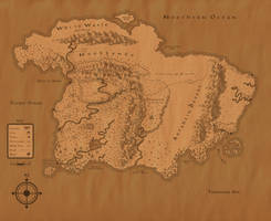 Heart of Fire Map - Continent of Tairon by SeraCross