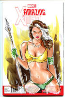 Savage Rogue X'men by Artfulcurves