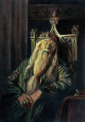 Dumbledore Snoozing 2 by Krats