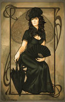 Art Nouveau: Queen of Spades by artofdaniel