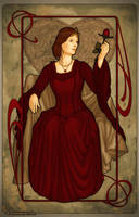 Art Nouveau: Queen of Hearts by artofdaniel