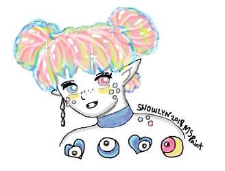 My Crystal hair Nunuke by Snowlyn