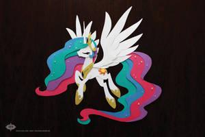 OOAK Princess Celestia Shadowbox [[SOLD!]] by Hexfloog