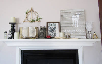 Harry Potter Themed Farmhouse Mantle by ThornStone