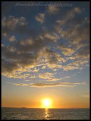 sunset by blendedwhiteboard