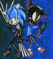 Weird Sonic and Kuro by TheGreedGirl