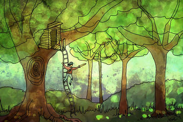 The Treehouse by delusional-dreams