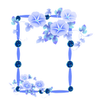 frame PNG with flowers by Melissa-tm