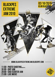 Black pes extreme jam poster by drzack69