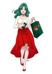 Michiru Christmas by KaylaNostrade