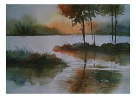 Sunset by Subhankar-debbarma