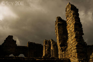 Stormy Skies over the Priory by IcyCobweb