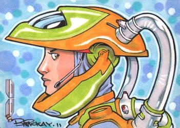 Galaxgals AE Sketch Card 2 by BillMcKay