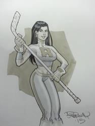 Ice Girl Con Sketch by BillMcKay