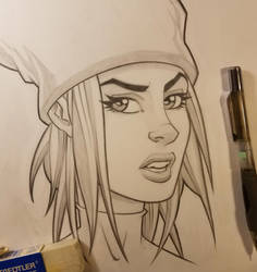 Kim in Pencil by BillMcKay