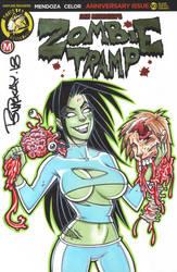 Zombie Tramp Sketch by BillMcKay