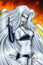 Lady Death Echoes FTW Nice Edition Cover by BillMcKay