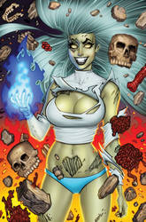 Zombie Tramp 57 Virgin Cover C by BillMcKay