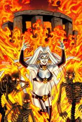 Lady Death All Hallows Evil Samhain Cover by BillMcKay
