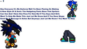 New Sonic Pants Sprite Base by DarkrowTheHedgelynx
