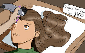 anime headshave part 2 by danielwartist