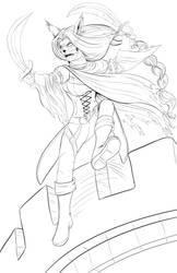 DnD Character, Aya (lineart) by danielwartist