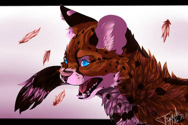 Serval Growl by Dyaniart