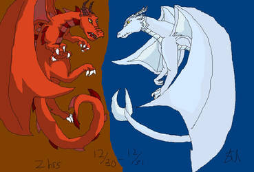 Dragons-Fire and Ice by Shinkou-san