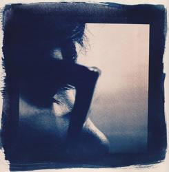 Cyanotype Self-Portrait 1 by fille-d-amoureux