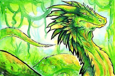 Green Wyrm + VIDEO by Arofexdracona