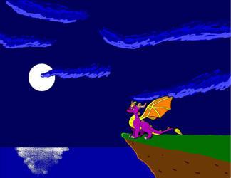 Spyro - Moonlit Night by DarkHarryPotter101