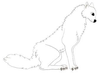 Male Wolf Lineart by DarkHarryPotter101