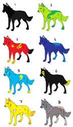 Wolf Adoptables by DarkHarryPotter101