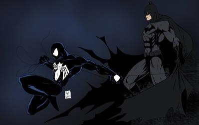 Spider-Man and Batman by Zuperkrypto by edCOM02