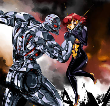 Ultron and Wasp - DON'T COMPARE ME WITH PYM!!! by edCOM02