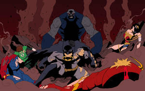 Darkseid v Justice League (Colored) by edCOM02