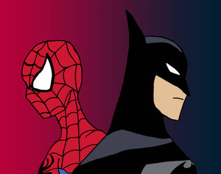 Spider-Man and Batman by edCOM02