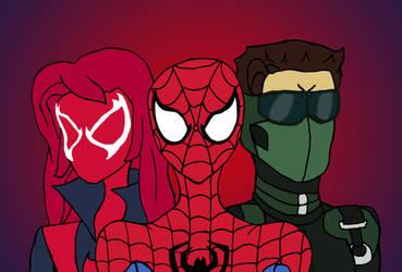 Spider-Man, Scarlet MJ and New Goblin by edCOM02