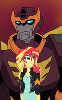 EG/Transformers: Sunset and Rodimus by edCOM02